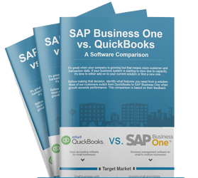 Quickbooks vs SAP Business One Infographic