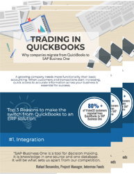 Trading in Quickbooks for SAP Business One - Downloadable Resource