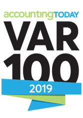Var100 Award for the top-tier accounting and ERP software resellers worldwide